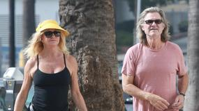 Goldie Hawn i Kurt Russell na spacerze