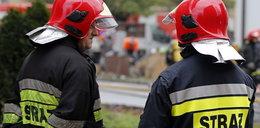Ranny strażak po wybuchu chemikaliów