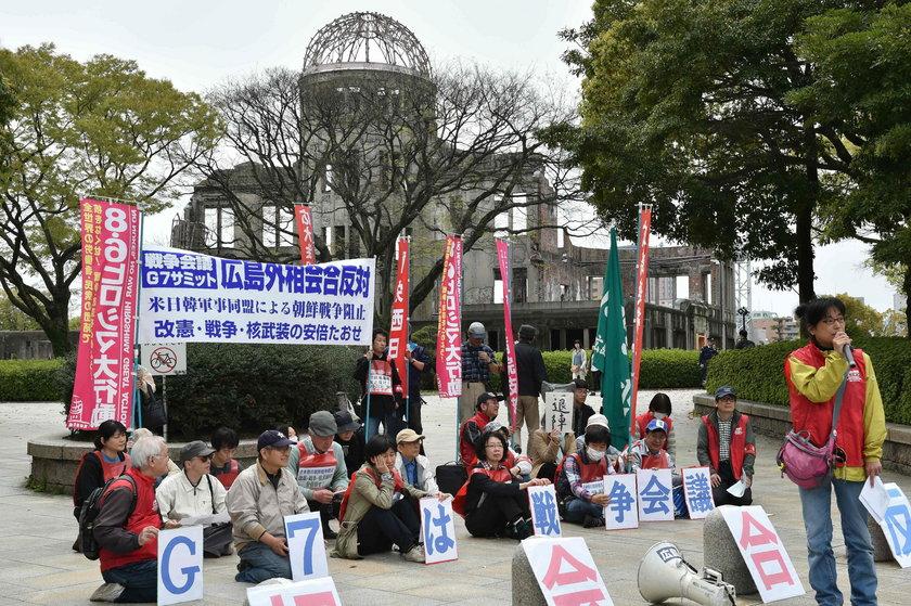 Przeciwnicy szczytu G7 protestują w Hiroszimie