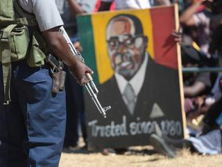 Zimbabwean President Robert Mugabe addresses youths in Marondera