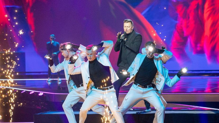 Rafał Brzozowski podczas prób do Eurowizji 2021