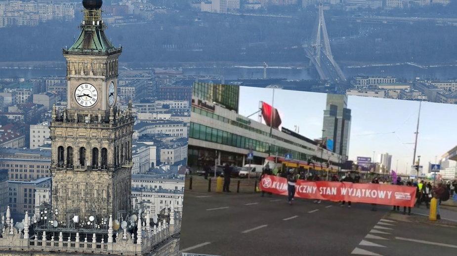 Warszawa: Aktywiści blokują skrzyżowanie w centrum. Protest