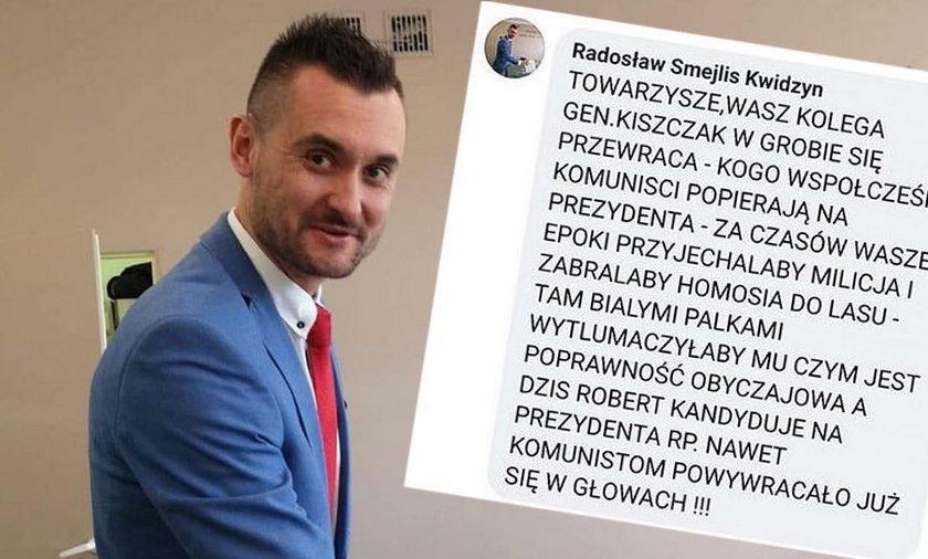Szef klubu PiS w Kwidzynie Radosław Smejlis