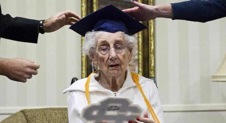 97-year-old Margaret Thome Bekema