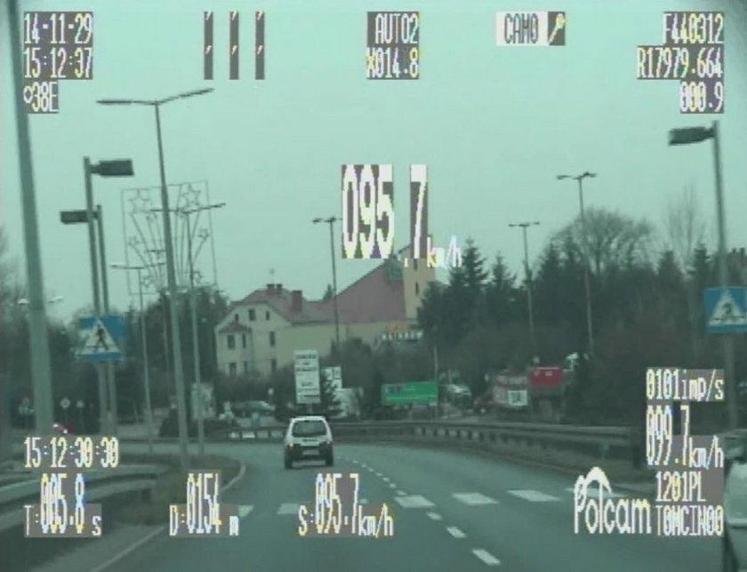 Piraci drogowi z Leszna nagrani przez policję