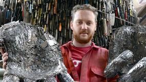 Artysta stworzył rzeźbę ze 100 tys. noży przejętych przez policję
