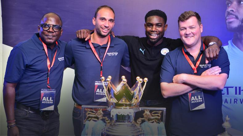 Former Manchester City defender Michah Richards engages Marathonbet partners in Lagos (Pulse Nigeria)