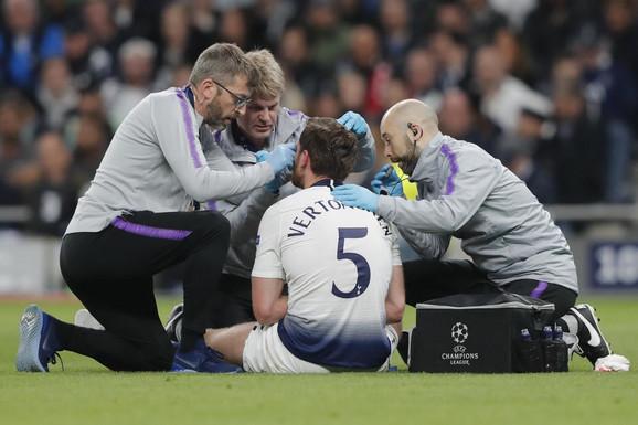 Jan Vertongen je doživeo tešku povredu