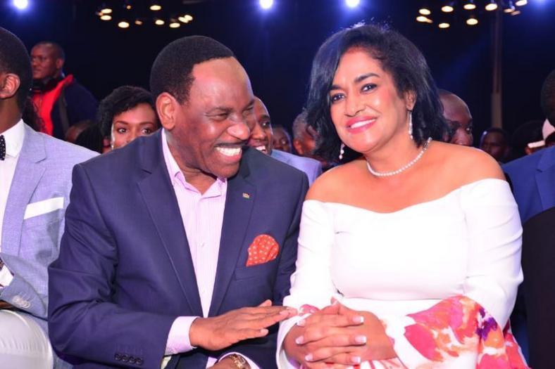 Esther Passaris with KFCB CEO Dr Ezekiel Mutua at the Groove Awards 2019