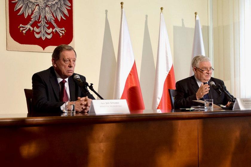 Prezes NFOŚiGW Kazimierz Kujda i minister środowiska Jan Szyszko