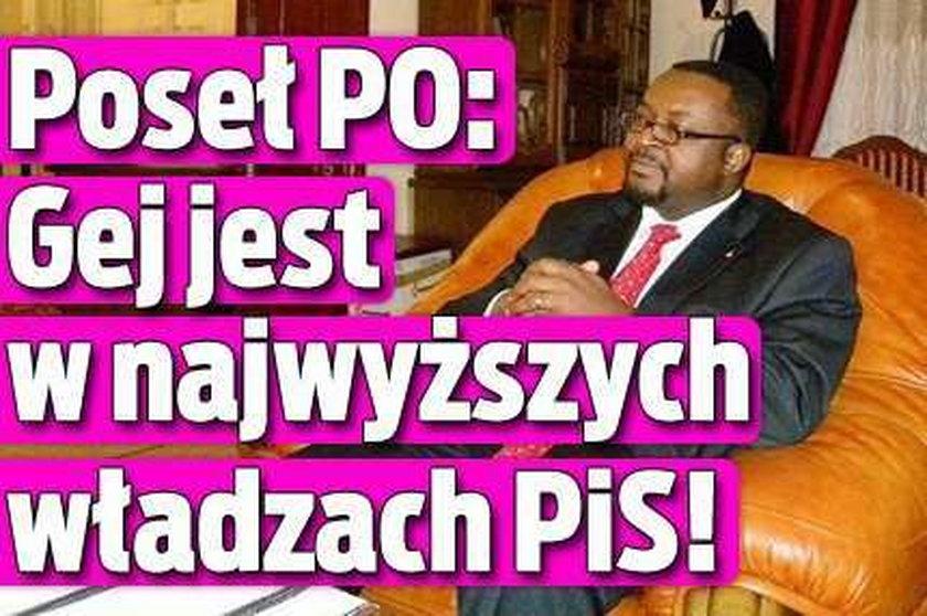 Poseł PO: Gej jest w najwyższych władzach PiS!