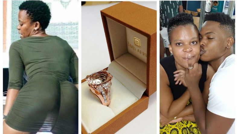 Controversial 'naked' dancer proposes to boyfriend with over Ghs 22k custom-made ring (video/photos)