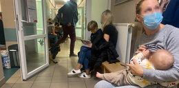 Tłum na izbie przyjęć w poznańskim szpitalu. Lekarze robili, co mogli