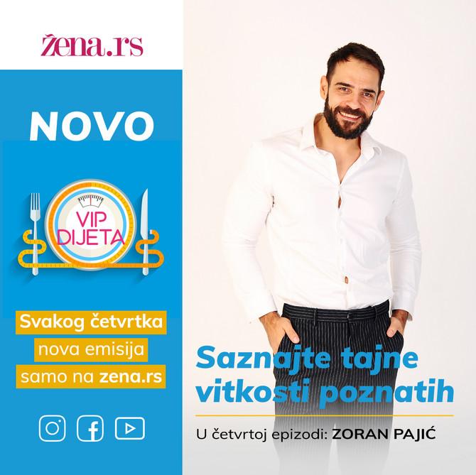 """Glumac Zoran Pajić je gost četvrte epizode našeg serijala """"VIP dijeta"""""""