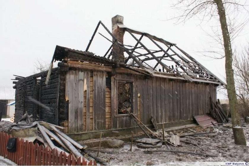 Młody mężczyzna spłonął we własnym domu. Foto