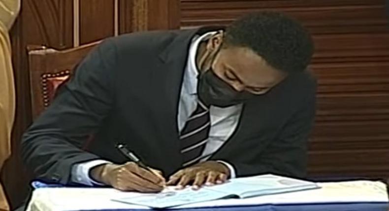 Abdulkadir Haji's first message after being sworn in as Garissa Senator