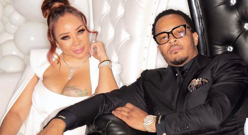 American rapper T.I and his wife Tiny Harris [Instagram/TheMajorBossMama]