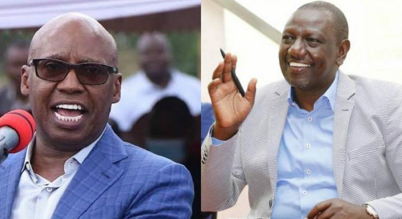 Deputy President William Ruto (right) and Businessman Jimi Wanjigi (left)