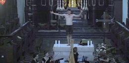 Skandal w tynieckim klasztorze. Półnagi mężczyzna tańczył na ołtarzu