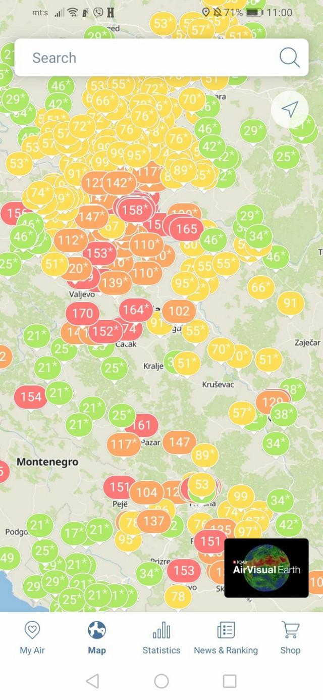 Prema podacima sa Air visuala, Čačak je najzagađeniji grad u Srbiji