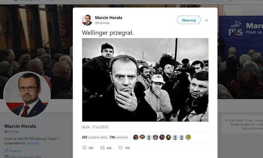 Żart posła PiS Marcina Horały