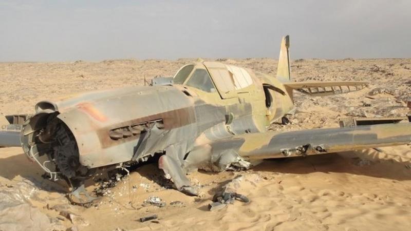 P-40-kittyhawk na Saharze