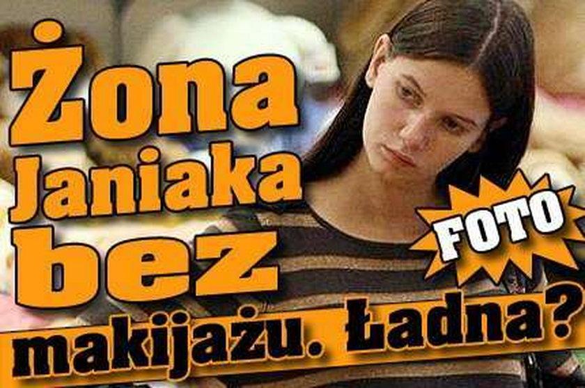 Żona Janiaka bez makijażu. Ładna? FOTO