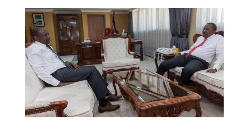 DP Ruto hosted President Uhuru Kenyatta to lunch at hi office on Tuedsay