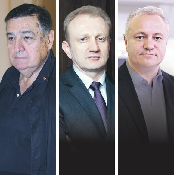 Mrkonjić, Đilas i Dinkić.