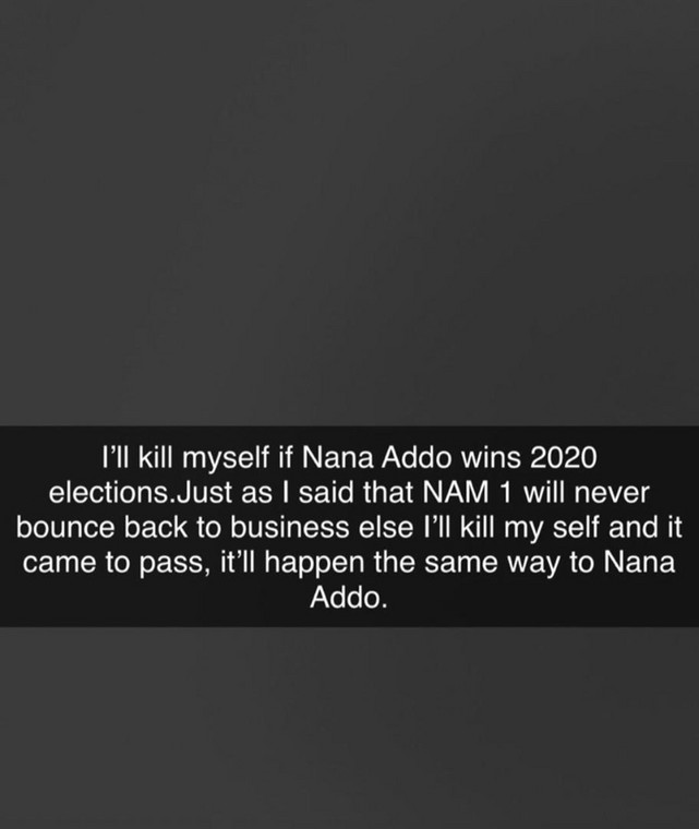 Screenshot of Ibrah One's snapchat post