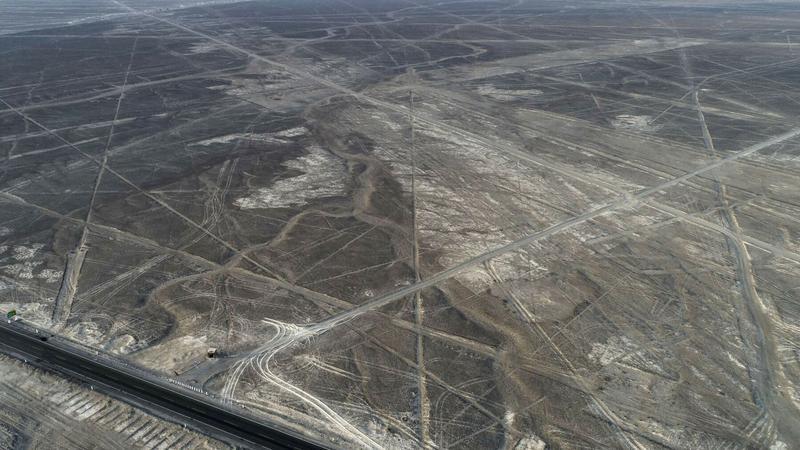 Rysunki z Nazca zniszczone samochodem