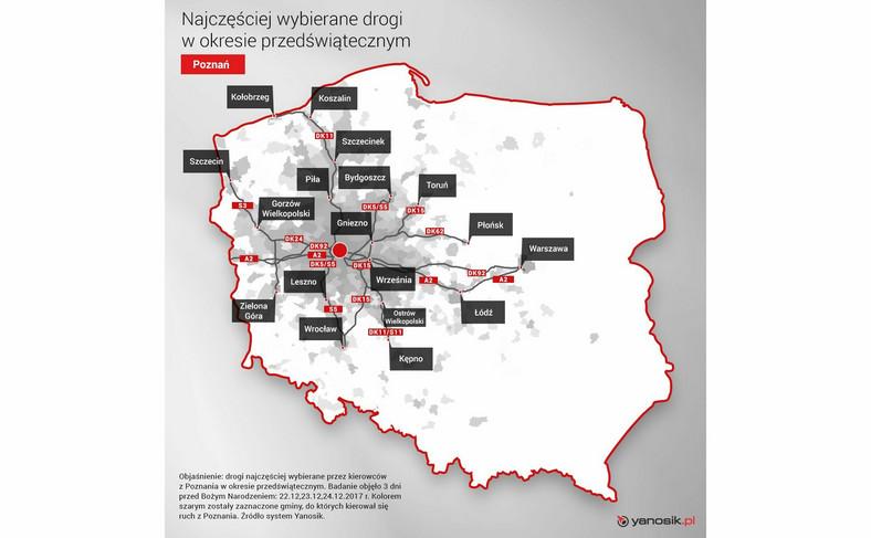 Ruch przedświąteczny z Poznania