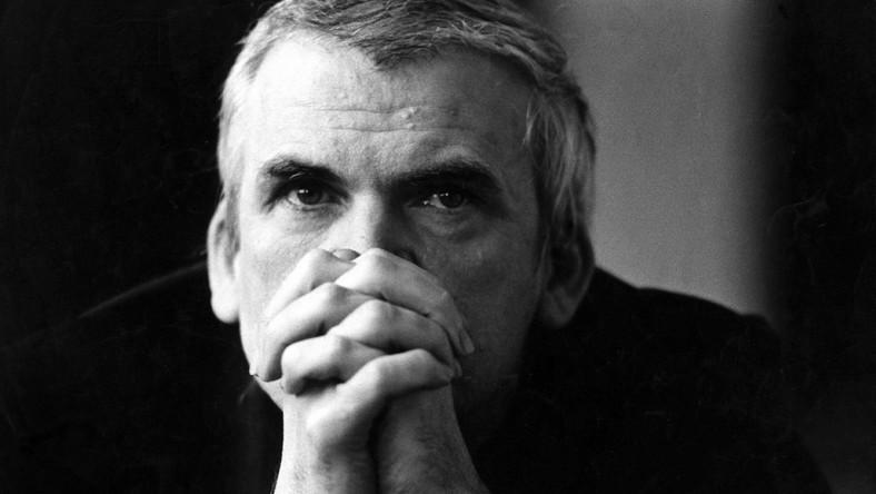 L'écrivain tchéque Milan Kundera en 1981. Photo Grossetti. Dostawca: PAP/DPA.