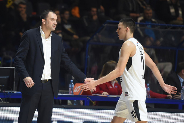 Nikola Tanasković i trener crno-belih Nenad Čanak