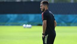 Eden Hazard is yet to start a game at Euro 2020 Creator: JOHN THYS