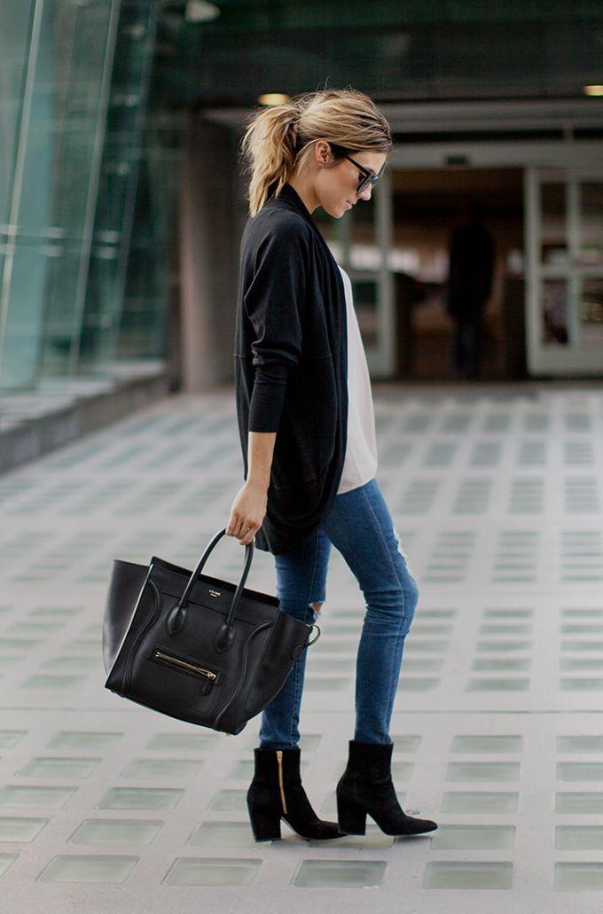 Skinny Jeans und Ankle Boots
