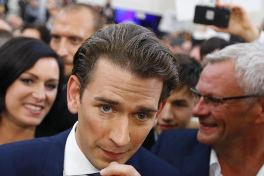 Top candidate of the People's Party (OeVP) Sebastian Kurz attends his party's meeting in Vienna