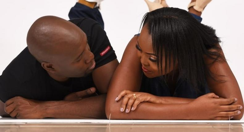 Mixed reactions as Dennis Okari parades his new wife Naomi on social media