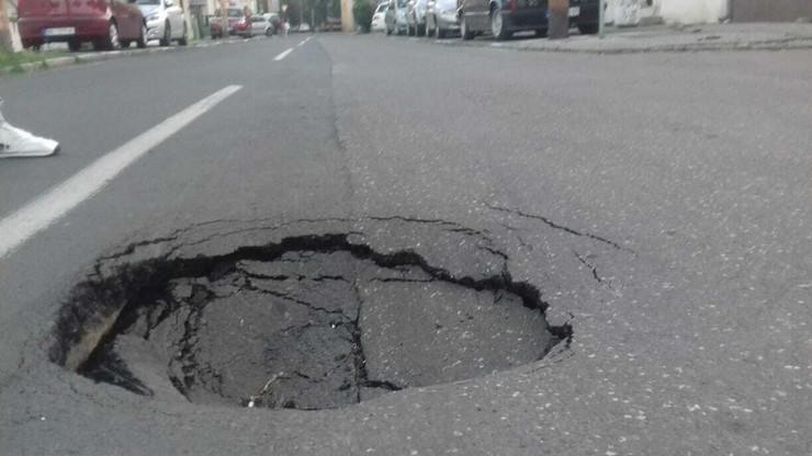 rupa, pokrivalica, rupa u Dobračinoj ulici, krater