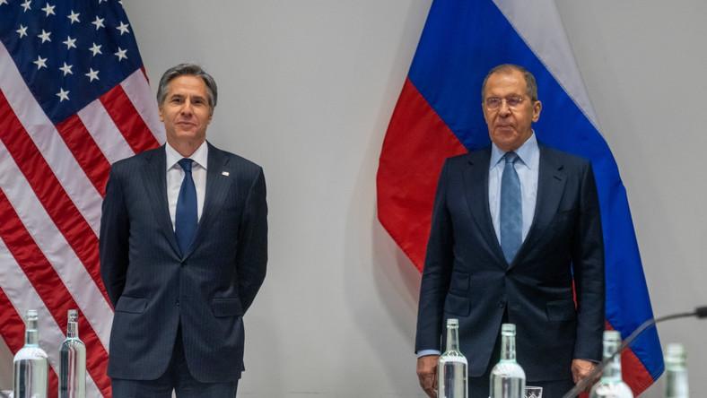 Antony Blinken i Siergiej Ławrow