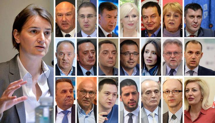 ana brnabić nova vlada ministri pokrivalica kombo foto RAS Srbija