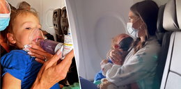 Skandal na pokładzie! 2-latek usunięty z samolotu przez brak maseczki w czasie ataku astmy