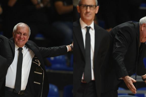 Prvo OSMEH DO UŠIJU, a onda se samo POKLONIO! Željko Obradović imao svoj šou sa navijačima, a posle maestralne pobede poručio OVO! /FOTO/