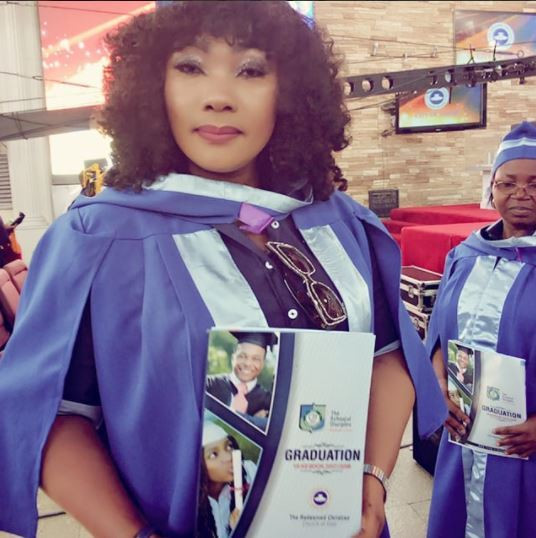 Well, today Eucharia Anunobi is an ordained minister of the gospel with different awards and certificates to back it up [Instagram/EuchariaAnunobi]