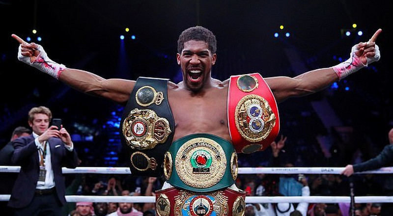 Anthony Joshua to present heavyweight belts to President Buhari