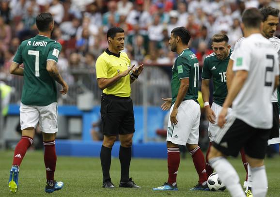 Alireza Fagani na meču Meksiko - Nemačka