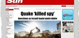 Trzęsienie ziemi wydało szpiegów Mossadu