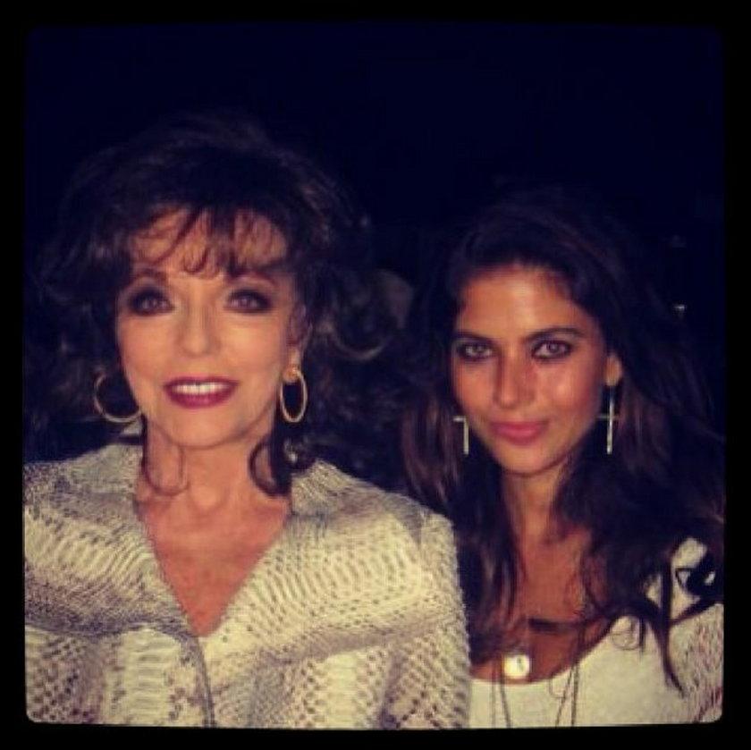 Weronika Rosati i Joan Collins