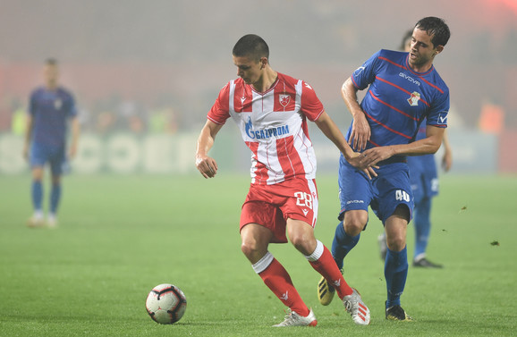 Dejan Joveljić tokom utakmice sa Napretkom