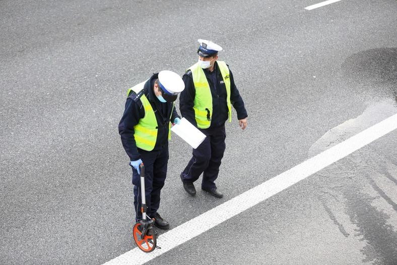 Wypadek na S8 w Warszawie